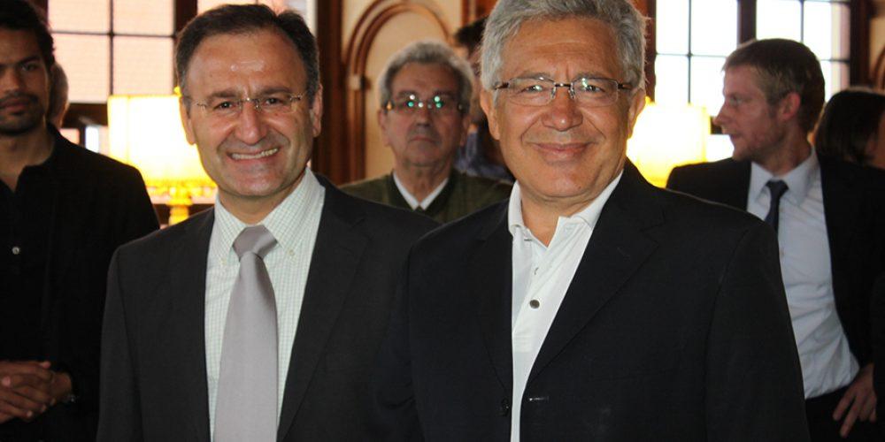 Mit dem Unesco Botschafter, türkischen Künstler Zülfü Livaneli im Goldenen Saal der Stadt Augsburg